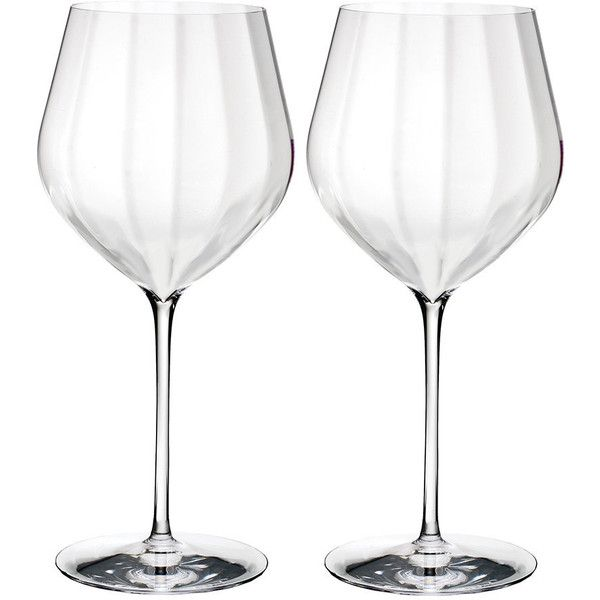 Waterford Optic 'Big Red' Wine Glasses - Set of 2 ($85) ❤ liked on Polyvore featuring home, kitchen & dining, drinkware, red wine glasses, port wine glass, port wine glasses, crystal drinkware and waterford glasses