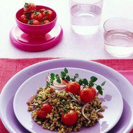Insalata di farro con i pomodorini caramellati | Donna Moderna