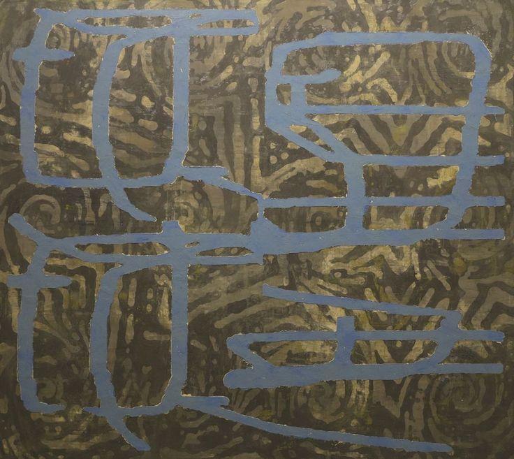 Mulasics László: Cím nélkül / Untitled, 2001, 160 x 180 cm, enkausztika, olaj, vászon / encaustic and oil on canvas