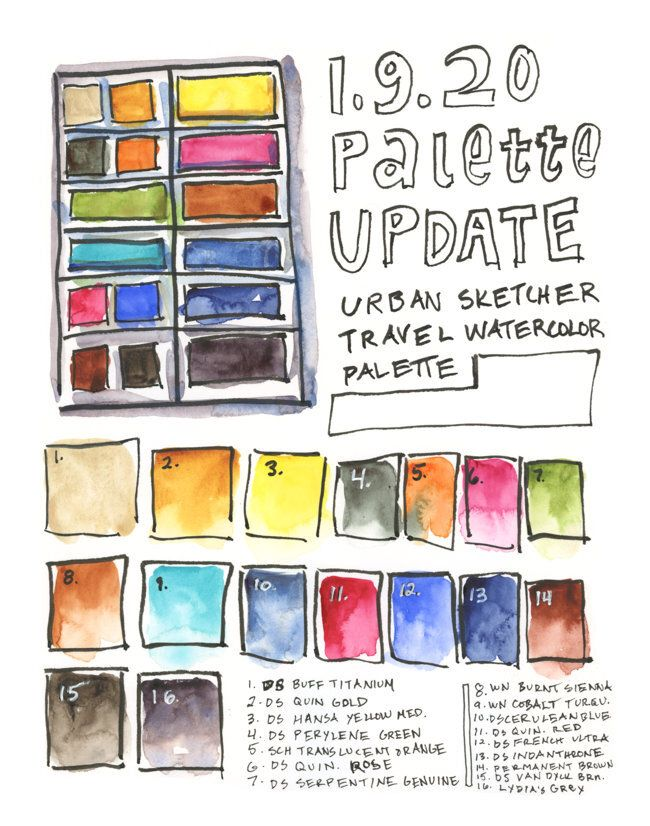 Palette Update 1 9 20 Palette Watercolor Art Paintings