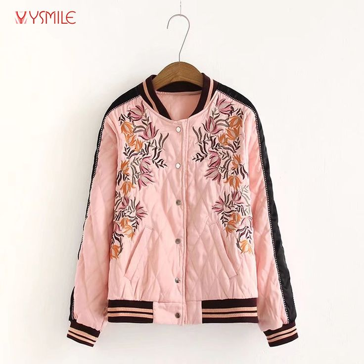 Find More Basic Jackets Information about YSMILE Y Women Autumn Pink Bomber Jacket Coat Embroidery Stand Collar Argyle Thick Jackets Femme Women Streetwear HY2058,High Quality pink bomber jacket,China jacket femme Suppliers, Cheap bomber jacket coat from Tryow Store on Aliexpress.com