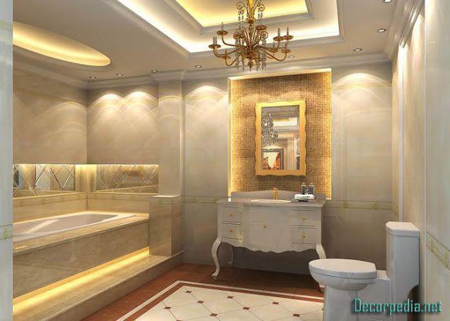 New Pop Ceiling Designs For Bathroom 2019 False Ceiling Design Ideas Pop Ceiling Design Bathroom Design Ceiling Design Bedroom