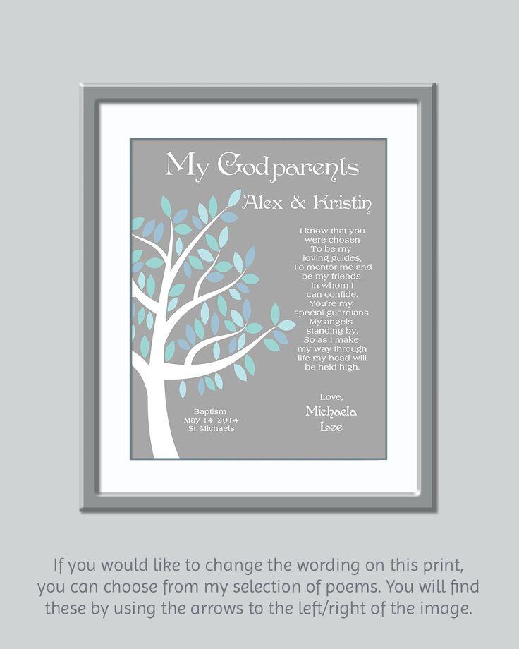 Godparents Gift - Gift For Godparents - Personalized Godparents Gift - Godparents Poem - Godparents Verse - Godfather Godmother Gift by GoldHousePrints on Etsy https://www.etsy.com/listing/211879946/godparents-gift-gift-for-godparents