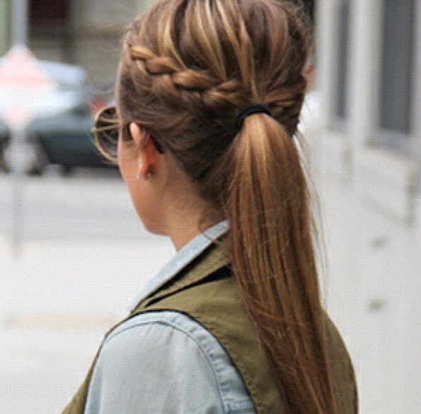 Swell Braided Bangs In A High Pony Tail Hairstyles Pinterest Short Hairstyles For Black Women Fulllsitofus