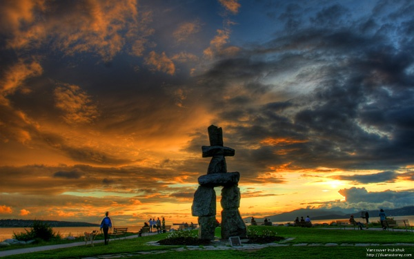 Here's a shot of the famous Inukshuk overlooking English Bay in Vancouver. duanestorey.com