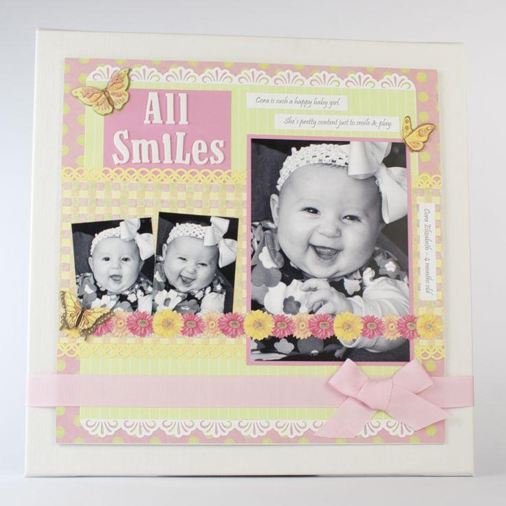 Baby Scrapbook Layouts - Image 2: Baby Scrapbook Pages, Scrapbook Layouts, Easy Scrapbook Layout, Scrapbook Ideasbabi, Baby Layout, Baby Girls, Baby Books, Scrapbook Baby, Baby Scrapbook Layout Ideas