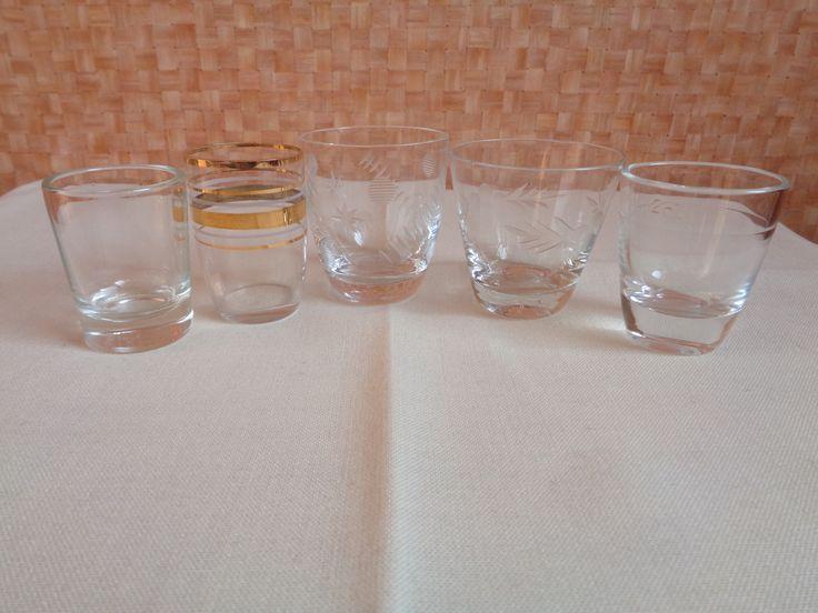 Pálinkás poharak - sajátgyűjtemény