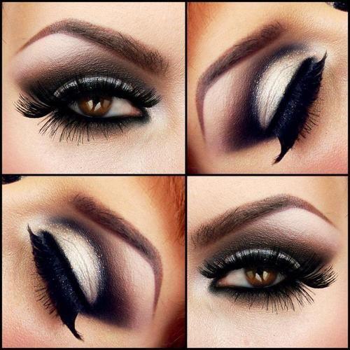 black cut crease- beautiful brown smokey eye
