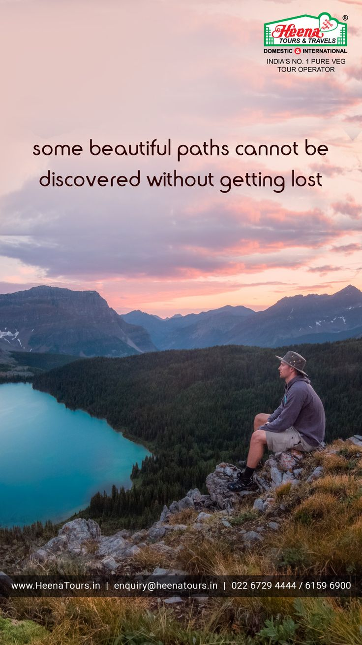 Some beautiful paths cannot be discovered without getting lost..!!