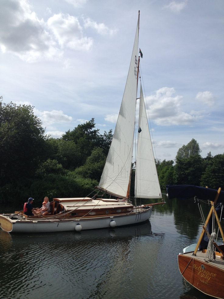 Love the traditional Norfolk Broads sailing cruisers