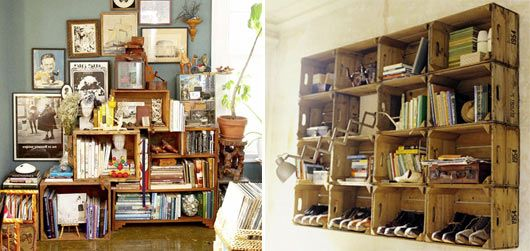 Love this idea. pick these up at thrift stores or antique shops