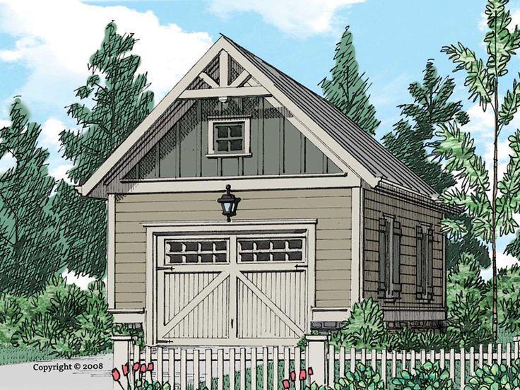 086g 0001 Craftsman Style 1 Car Garage Plan Garage Plan Craftsman House House Plans