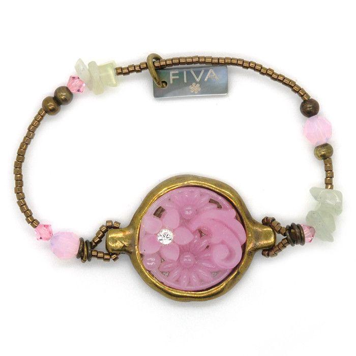 FIVA Pink jade armband #applepiepieces...Wauw!!