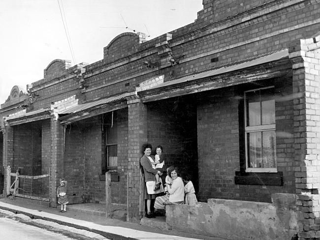 July 1964: These are the kinds of houses that the large housing commission flats in Carlton replaced.