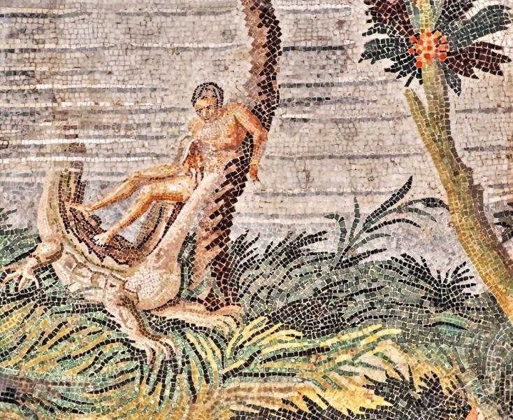 Mosaico Nilótico - Arte Romano, técnica del Opus Vermiculatum