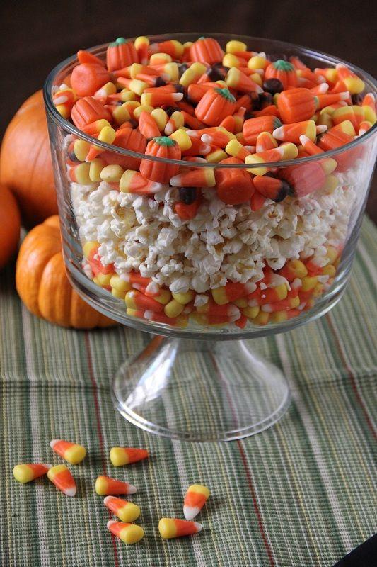 Fall popcorn centerpiece recipe candy corn