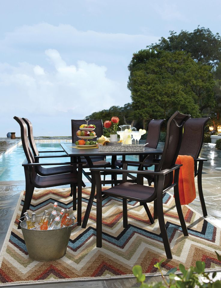 The Rugby Outdoor Dining Table Offers A Modern, Trendy Style To Any  Backyard Memorial Day Celebration.