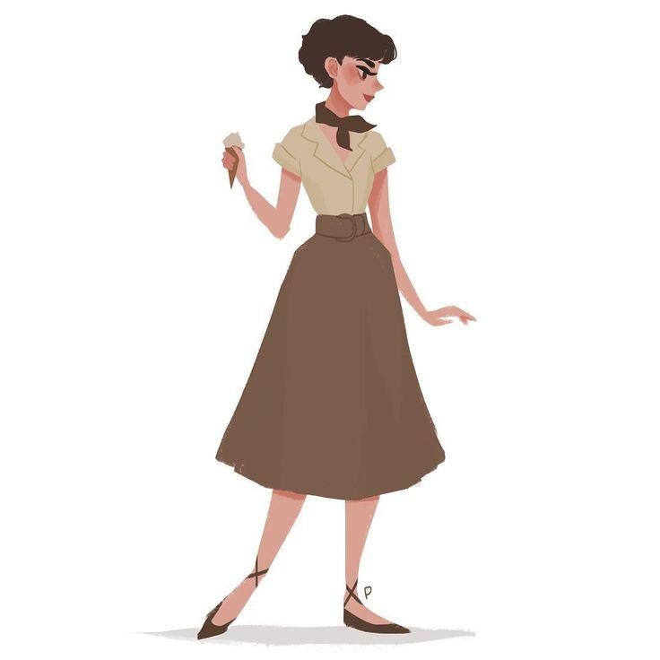 Audrey Hepburn by Punziella