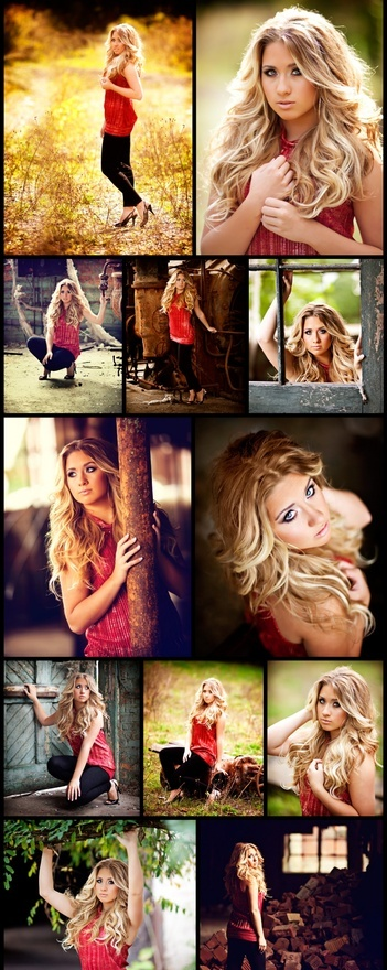 Senior girl session ideas - farm  But have her actually look like she wants to be there.