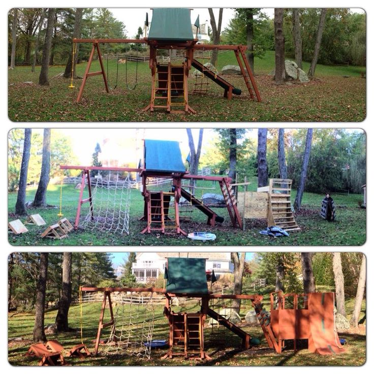 Transforming a playset into an American Ninja Warrior obstacle course. Found on Pinnacle Parkour's Facebook page - pic 1 of 2