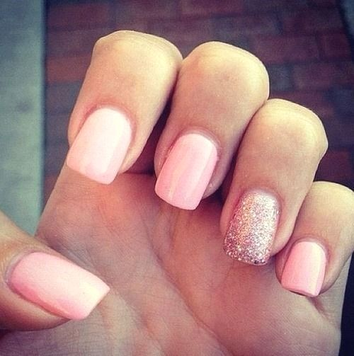 Pin By Sara On Maquillaje One Glitter Nails Pale Pink Nails Pink Nails