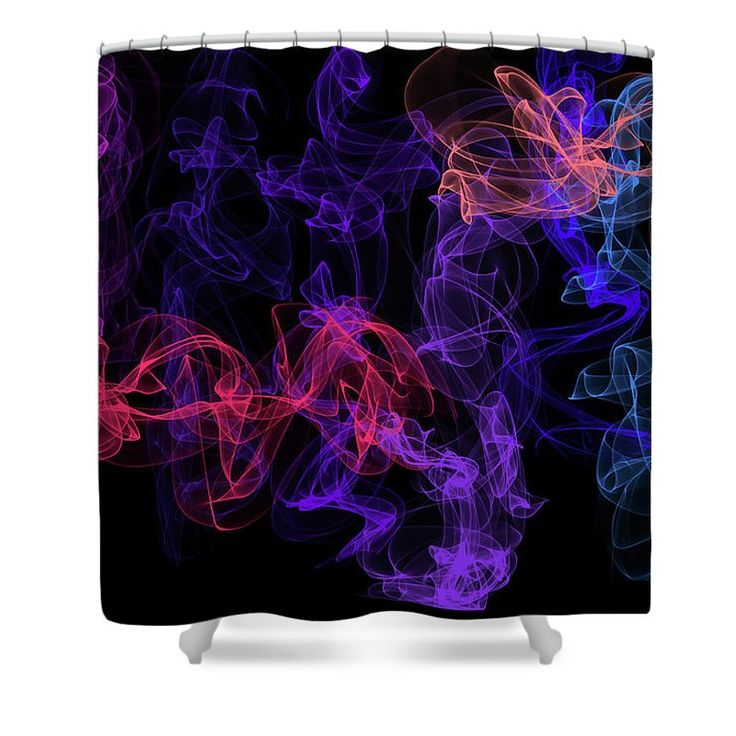 """Ethereal Dance 2 Shower Curtain by Jenny Rainbow.  This shower curtain is made from 100% polyester fabric and includes 12 holes at the top of the curtain for simple hanging.  The total dimensions of the shower curtain are 71"""" wide x 74"""" tall."""