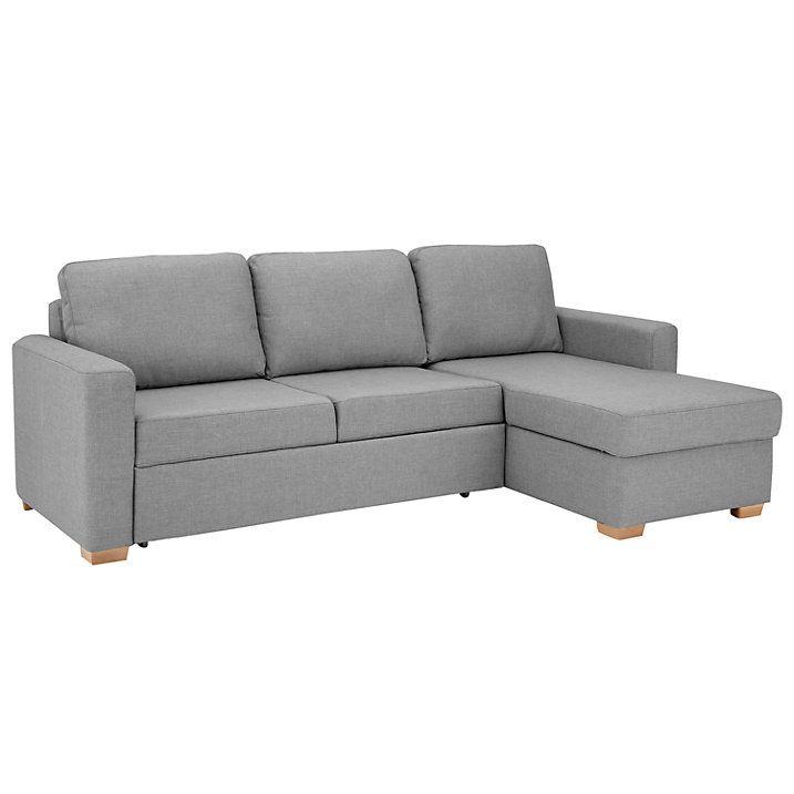 Buy John Lewis Sacha Large Sofa Bed with Foam Mattress, Light Leg, Erin Grey Online at johnlewis.com