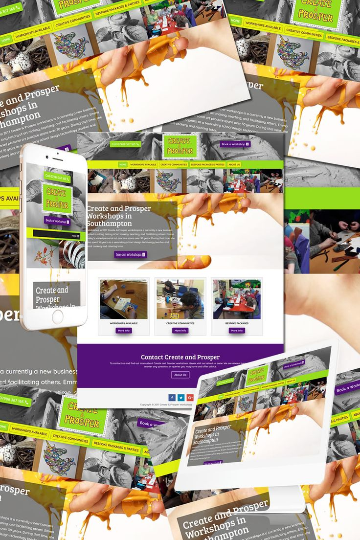 The New Website for Create and Prosper Art Workshops in Southampton https://hostcat.co.uk/project/create-prosper-workshops/