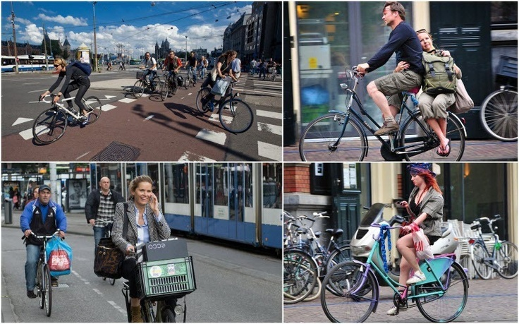 Amsterdam is one of the most bicycle-friendly cities in the world, with an estimated 800,000 bikes within the capital. In contrast, the city has a population of only 750,000 – less than the number of bikes. According to an estimate made 5 years ago, 490,000 bicyclists take to streets everyday and together they log more than 2 million kilometers, each day.