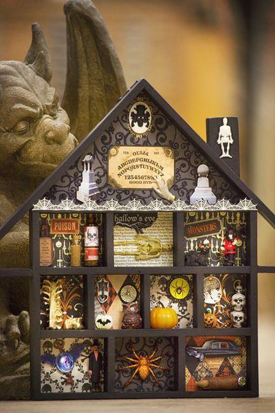 halloween house incarnations rona anderson - Miniature Halloween Decorations