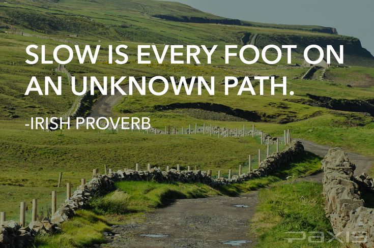 Irish Path Proverb