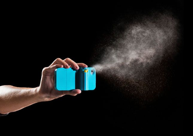 The Spraytect ($40) combines a protective cover for your phone with a small tube of mace to keep yourself protected and safe when you're on-the-go. That's right – now it's possible to pepper spray someone with your iPhone.