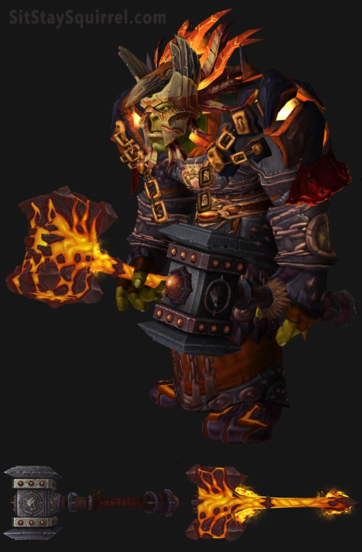Orc Male Enhancement Shaman Artifact Transmog Set. World of Warcraft Legion