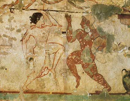 Tarquinia (Viterbo) - Etruscan dancers from Tomba delle Leonesse