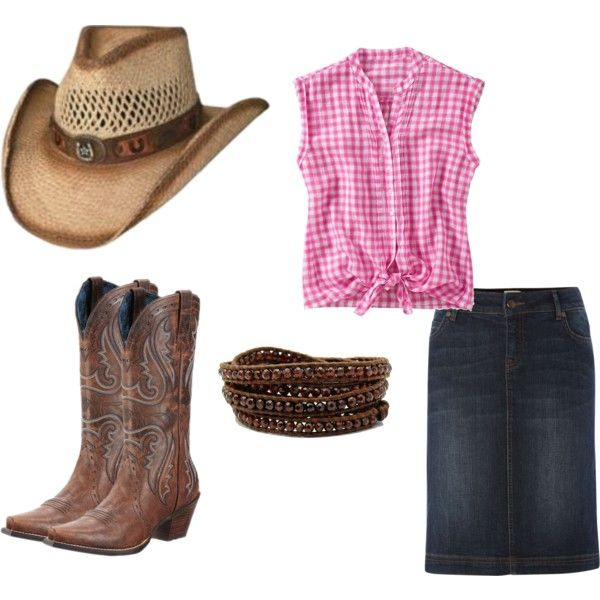 """""""Cowgirl Outfit"""" by ejt1619 on Polyvore....cute summer cowgirl outfit ;)"""