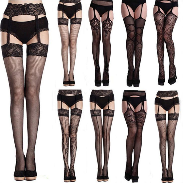 Fashion Style Sexy Mesh Lace Thigh-Highs Leggings Stockings Garter Belt Socks  #Unbranded #Stockings
