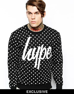 Hype Sweatshirt in Polka Dot  Exclusive To Asos