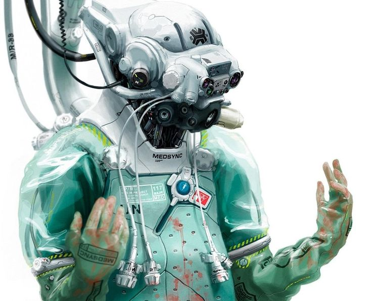 cyber hazmat suit : Cyberpunk