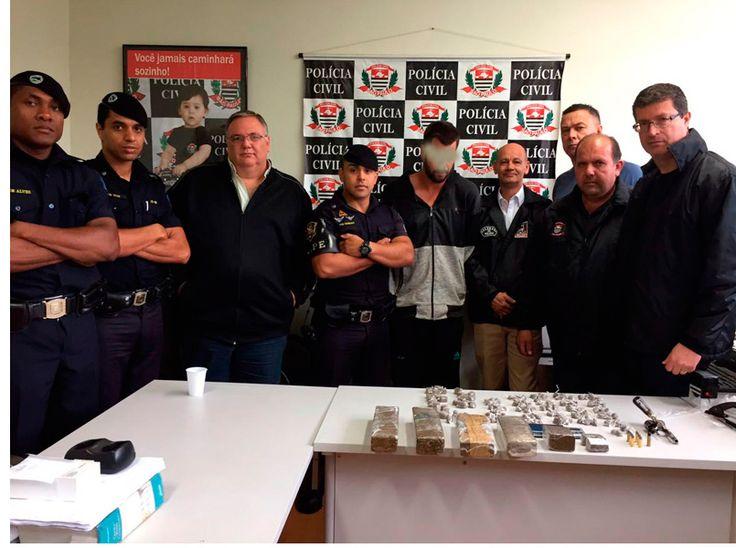 GAPE e DIG fazem prisão de acusado por venda de maconha e posse de armas