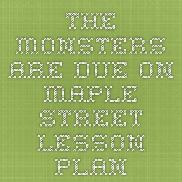 Themes monsters are due on maple