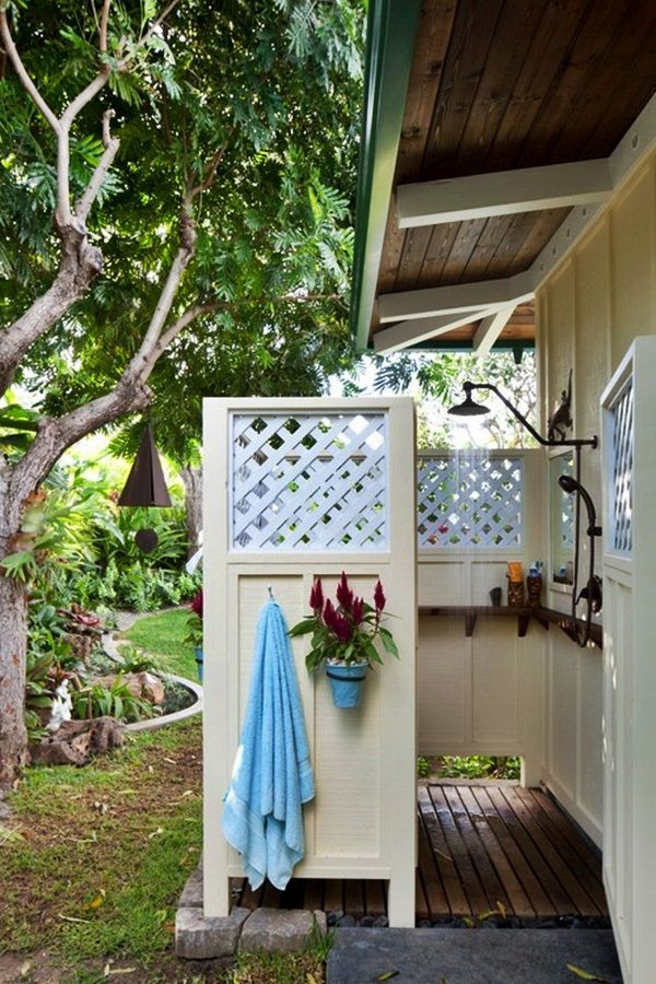 Rustic ‪#‎outdoor‬ ‪#‎shower‬ as a appendage of the house.  For more inspiration take a look at 12 different styles of outdoor showers: http://impressivemagazine.com/2013/08/17/12-different-styles-of-outdoor-showers/