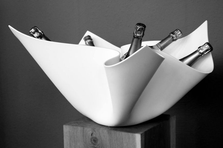 We are excited to share this champagne bucket made of Corian® by DIGK Design. Cheers!