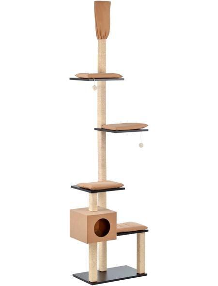 SILVIO DESIGN Kratzbaum-Deckenspanner »Bashira«, B/T/H: 73/47/230-260 cm, beige