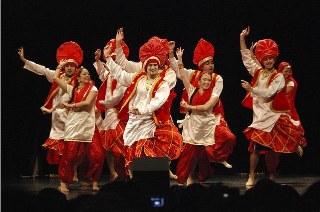 As you can see, this is bhangra in motion. There are both girls and boys in this preformance.