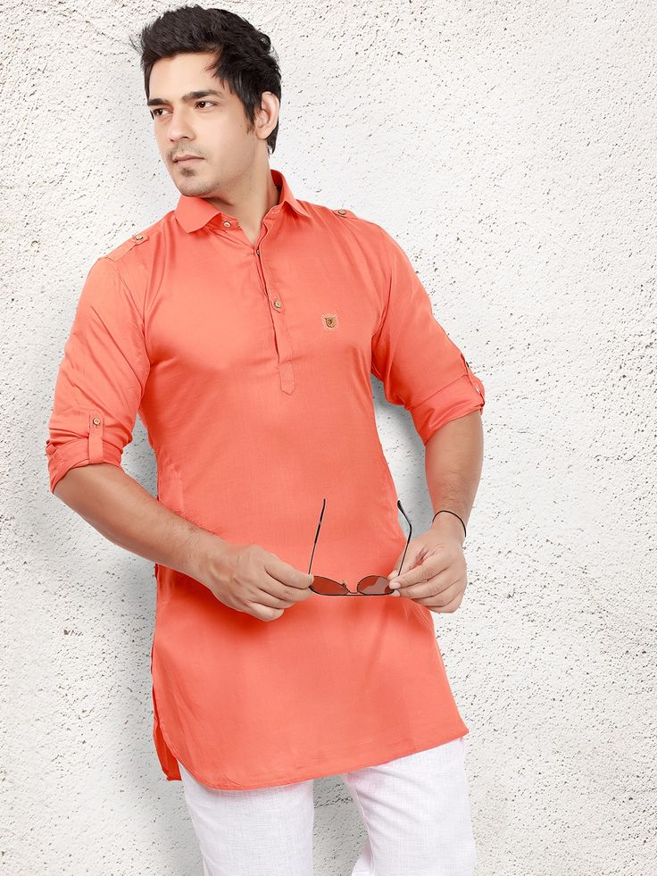 Cotton Peach Short Pathani