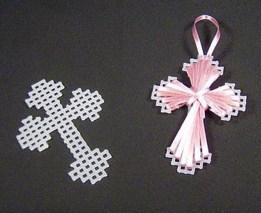 Plastic Canvas Crafts | These simple crosses make great bookmarks or Easter decorations. Tie ...