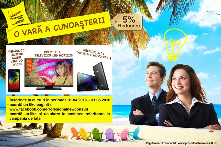 Campanie  O vara a cunoasterii  http://www.profesionalnewconsult.ro