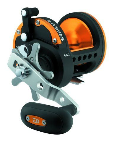 Seagate Star Drag Saltwater Conventional Reel, Black and Orange Finish Dual system Infinite Anti-Reverse •Three CRBB corrosion resistant ball bearings and roller bearing •Anodized aluminum spool •Rugged brass gears that are helical-cut for smooth, powerful winding •Centrifugal spool brake