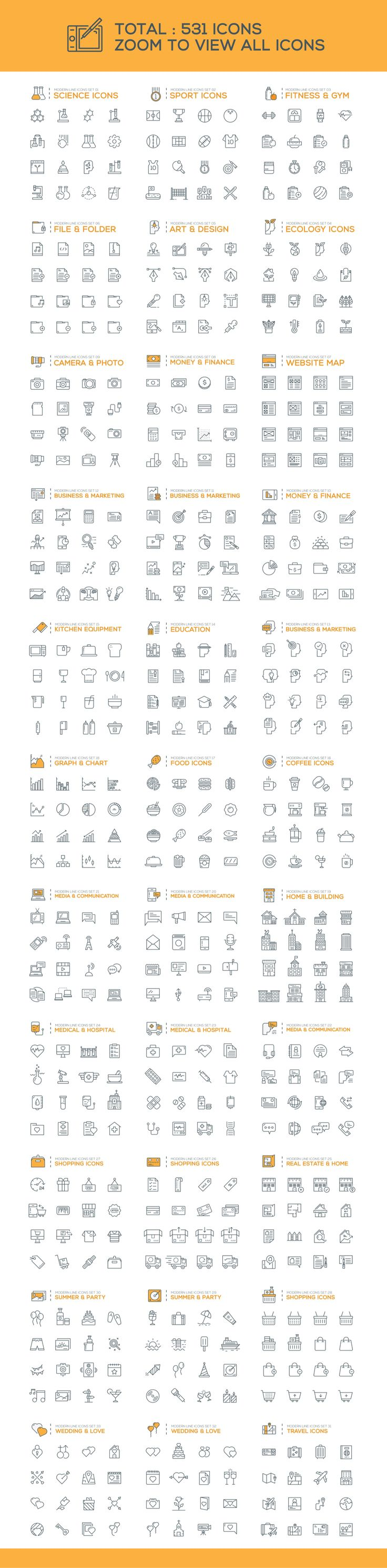 Wireless icon line iconset iconsmind - 500 Modern Line Icons Pack By Graphicafe On Creative Market