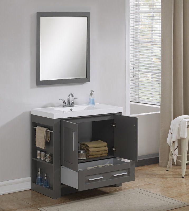 Cedeno 35 Single Bathroom Vanity Set In 2020 Bathroom Vanity Single Bathroom Vanity Vanity